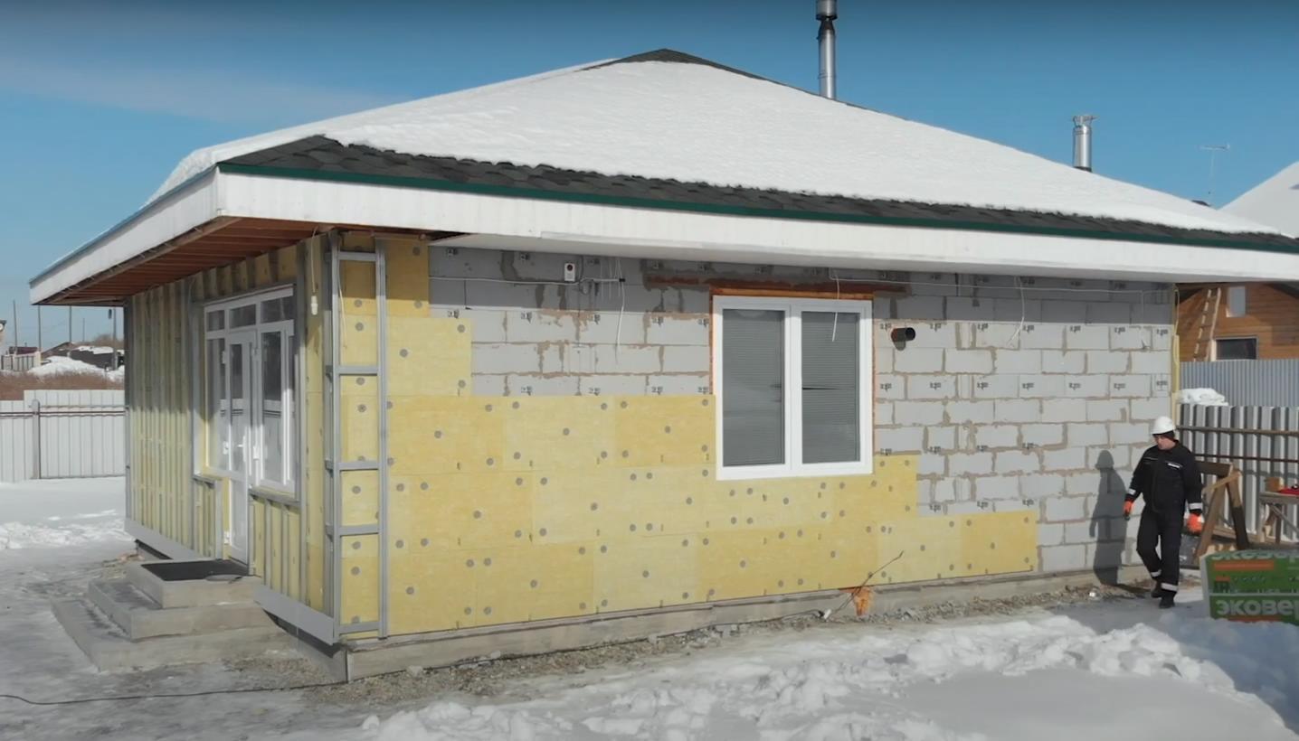 Утепление дома снаружи утеплителем